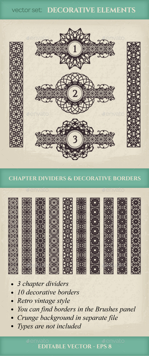 GraphicRiver Vector Calligraphic Design Elements 9935447
