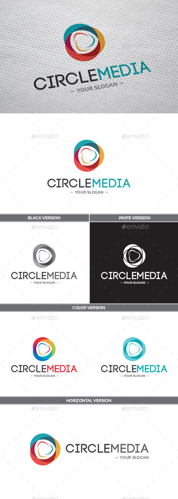 GraphicRiver CircleMedia Logo 9935450