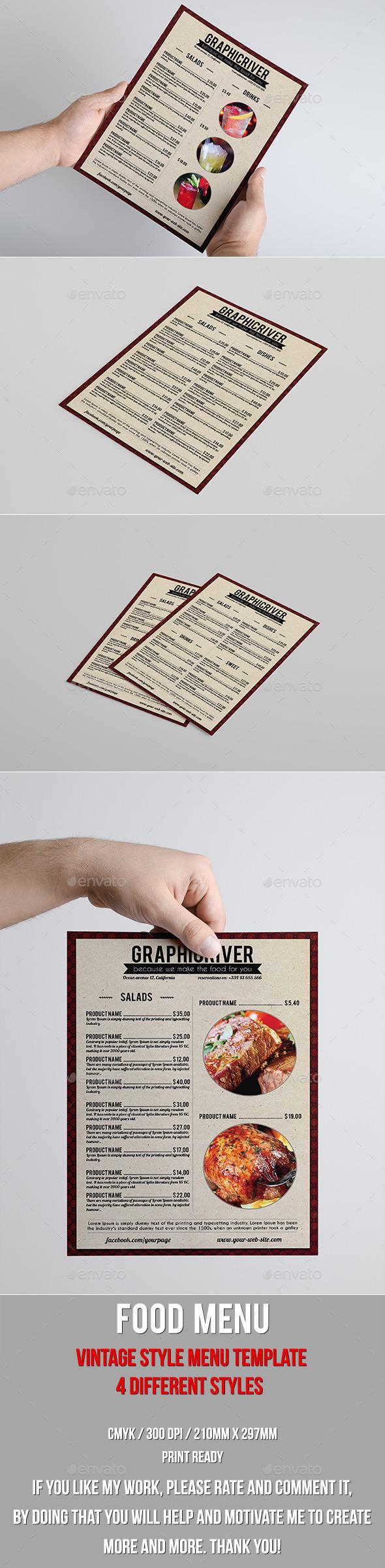 GraphicRiver Vintage food menu 9935508