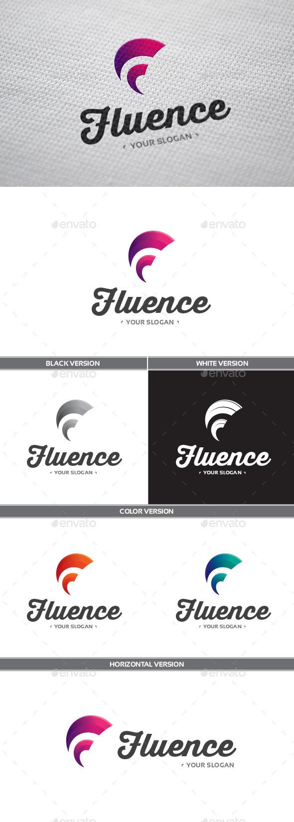 GraphicRiver Fluence Logo 9935517
