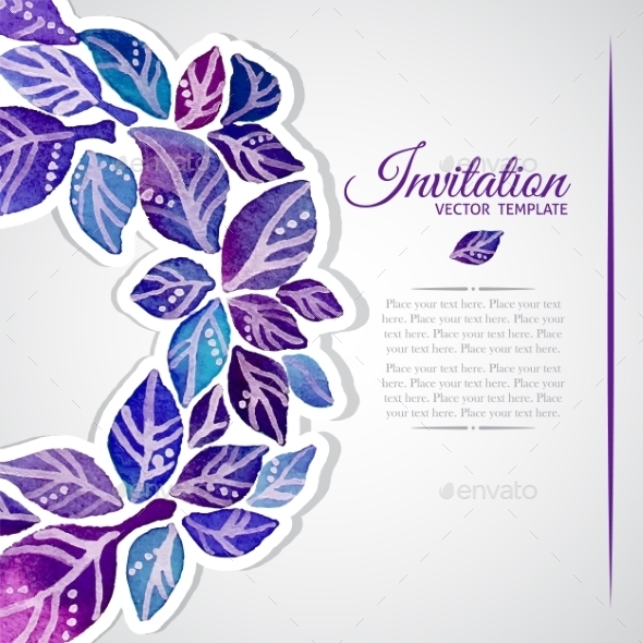 GraphicRiver Floral Invitation Card 9935609