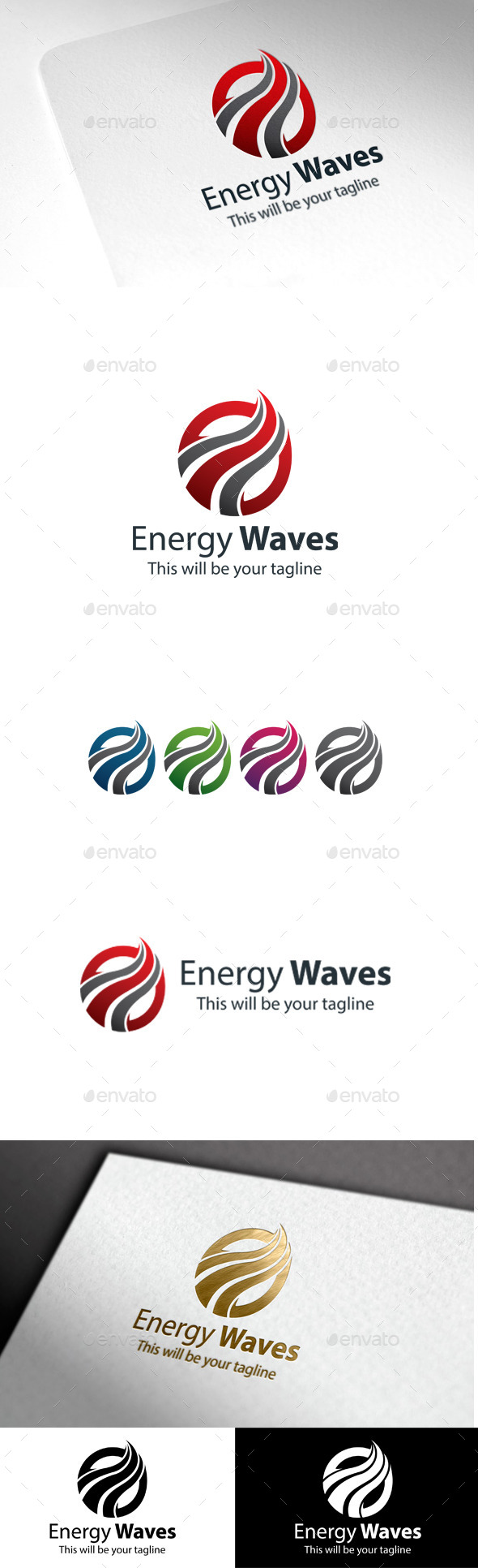 GraphicRiver Energy Waves 9935615