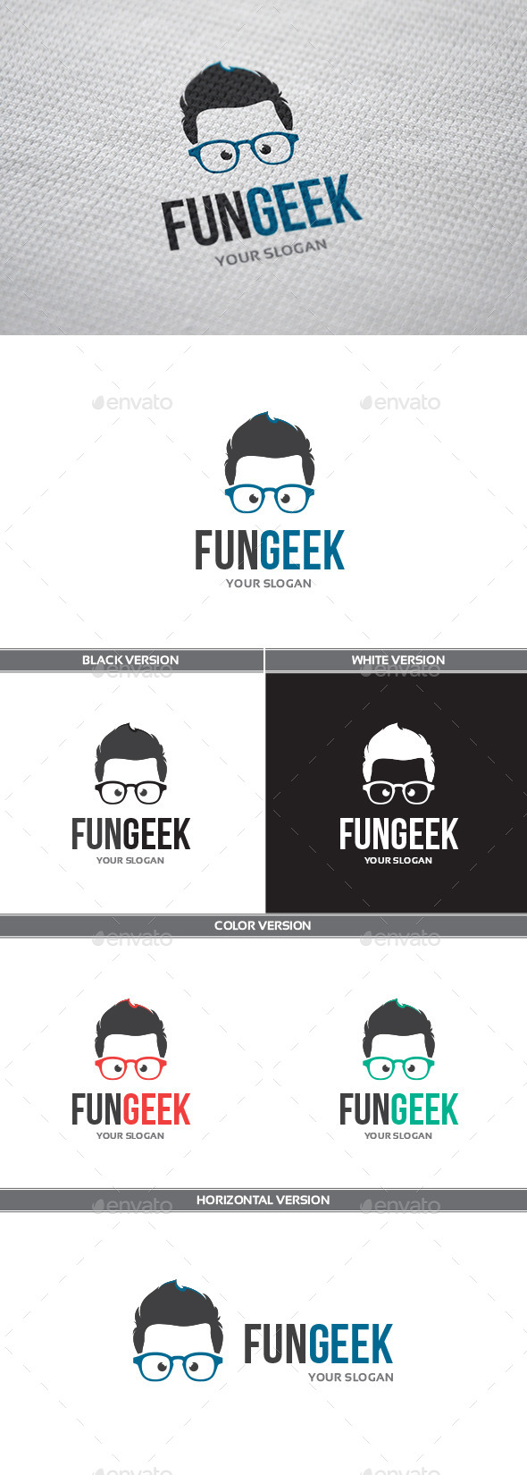 GraphicRiver FunGeek Logo 9935623