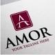 Amor Logo • A Letter Logo Template - GraphicRiver Item for Sale