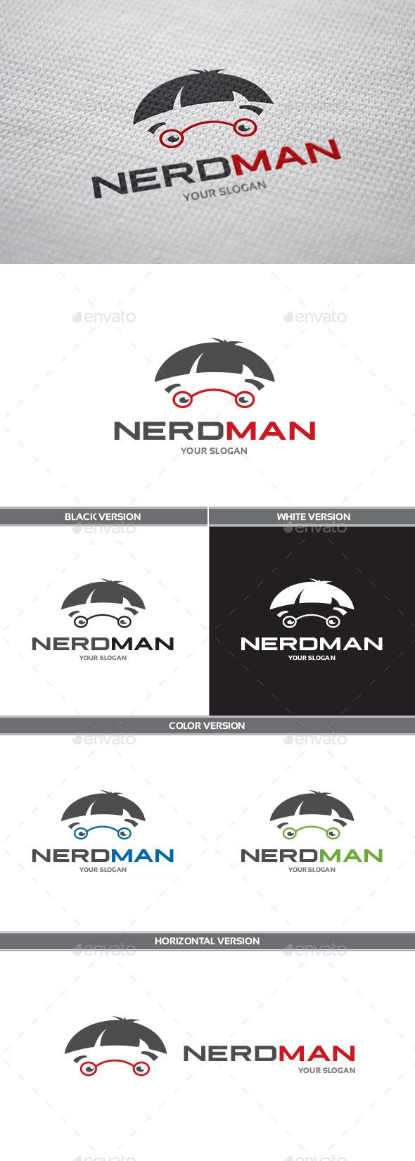 GraphicRiver NerdMan Logo 9935650