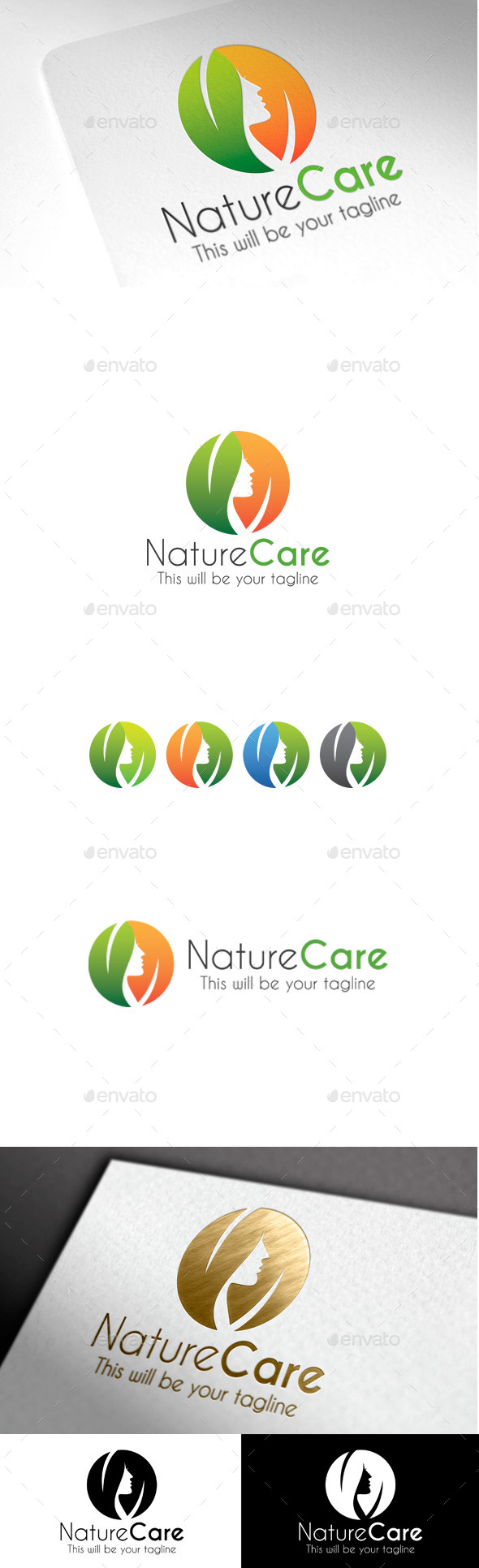 GraphicRiver Nature Care Logo 9935756