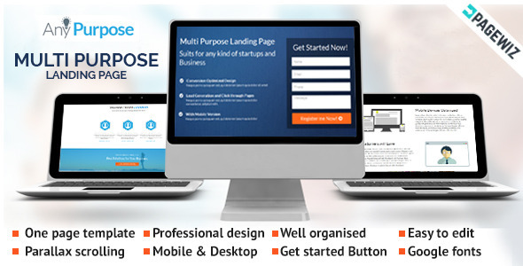 ThemeForest AnyPurpose A Multipurpose Pagewiz Landing Page 9711515