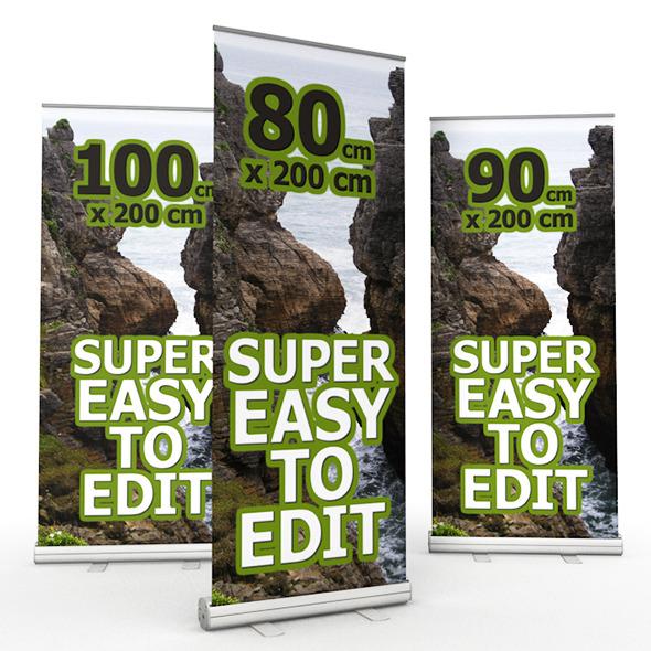 3DOcean Roll Banner 9935907