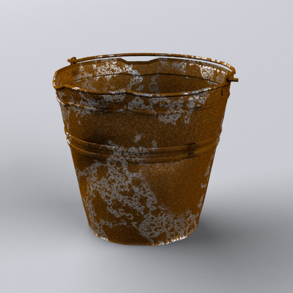 Crumpled Bucket - 3DOcean Item for Sale