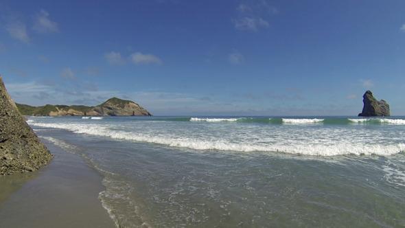 Long Waves at Beach