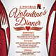 Valentine's Dinner Menu - GraphicRiver Item for Sale