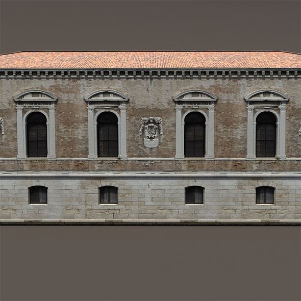 Venice Building #148 Low Poly