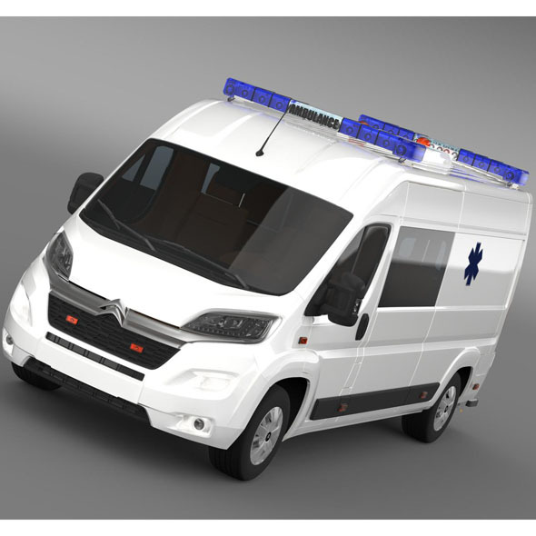3DOcean Citroen Jumper Ambulance 2015 9936171