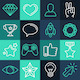 Set of Line Game Icons - GraphicRiver Item for Sale