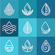 Set of Water Symbols and Signs - GraphicRiver Item for Sale
