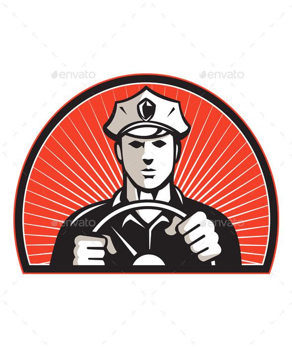 GraphicRiver Policeman Driver 9936241