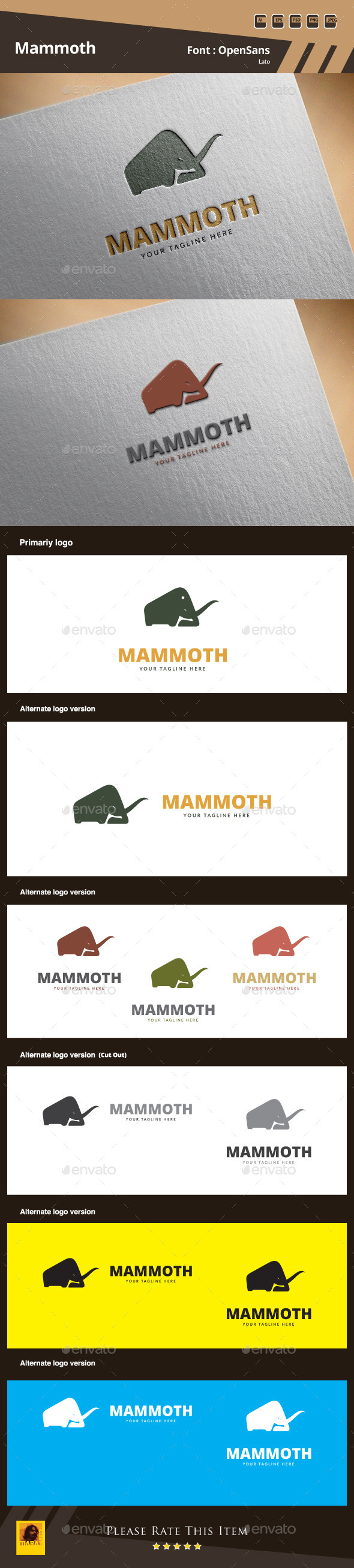 GraphicRiver Mammoth Logo Template 9936270