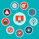 Internet Security Concept in Flat Style - GraphicRiver Item for Sale
