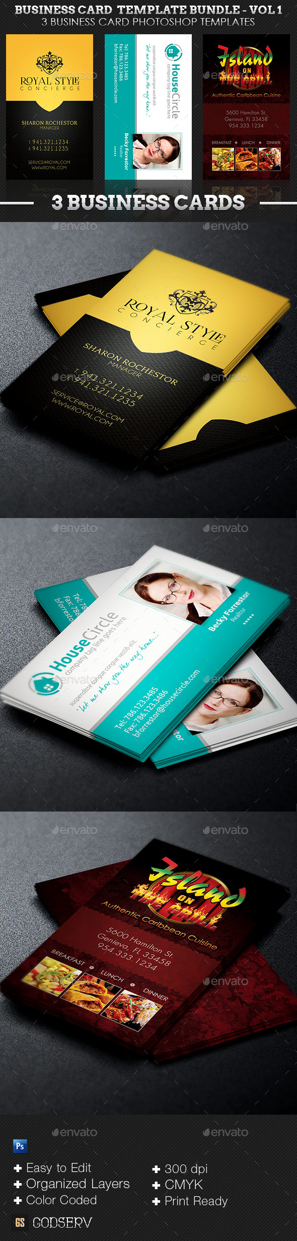 Business Card Template Bundle Volume 1