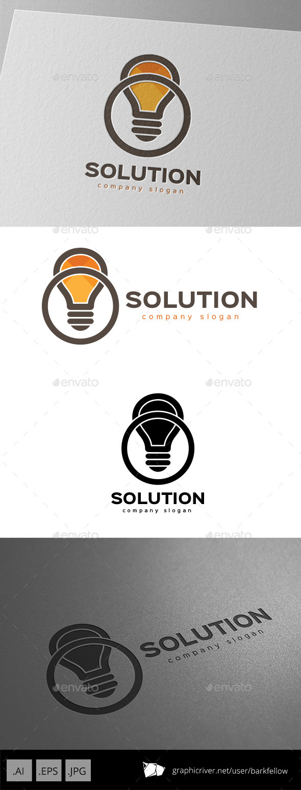 GraphicRiver Smart Solution Idea Logo Design 9936587