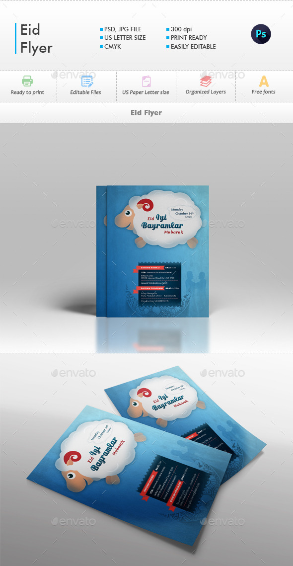 GraphicRiver Eid Flyer 9911624