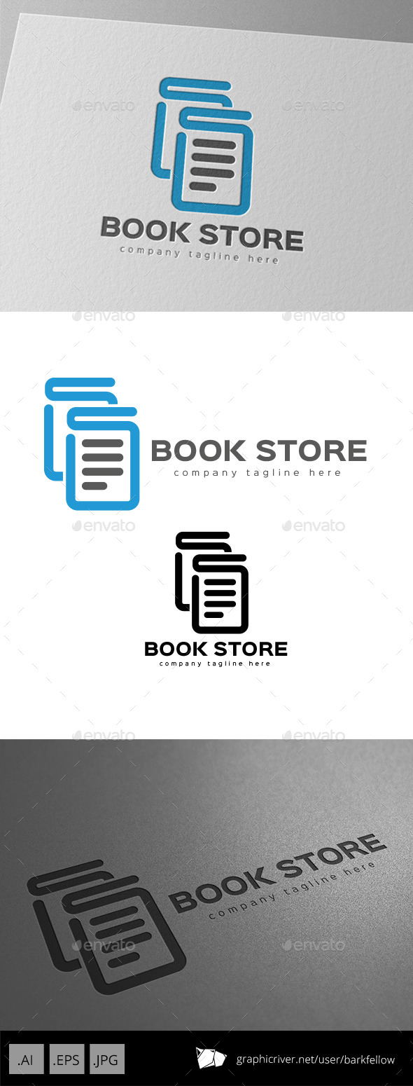 GraphicRiver Book Store Logo Design 9936621