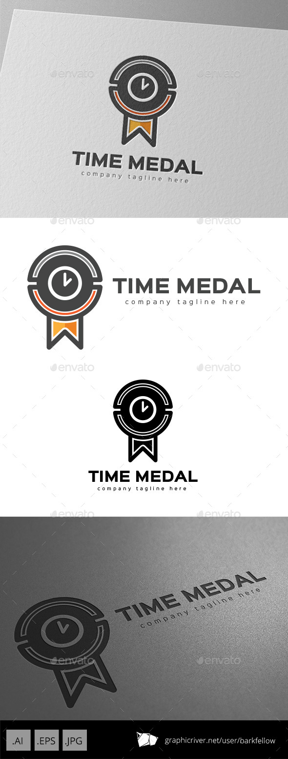 GraphicRiver Time Medal Logo Design 9936624