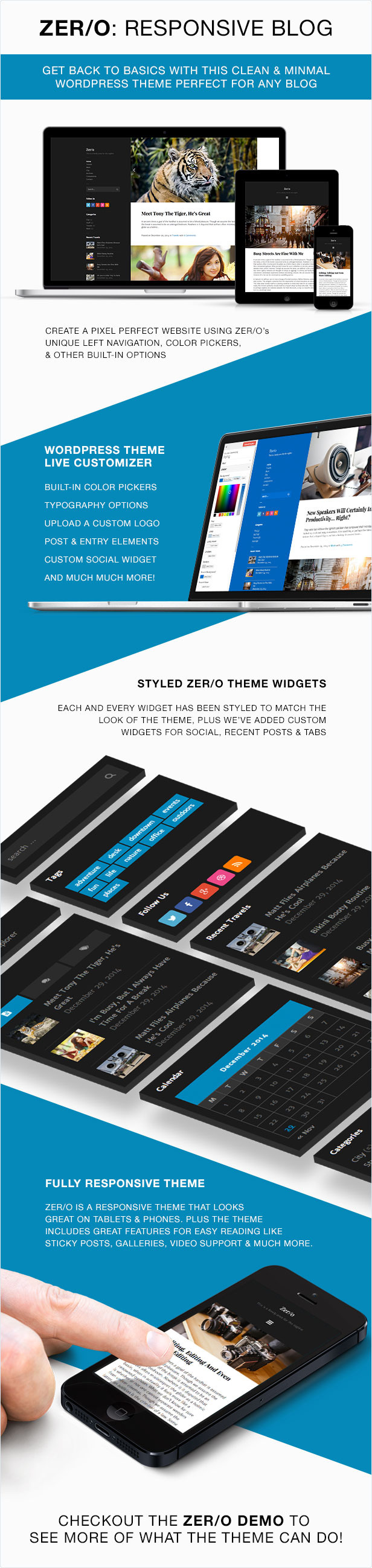 WordPress theme Zero Responsive Blog WordPress Theme (Personal)