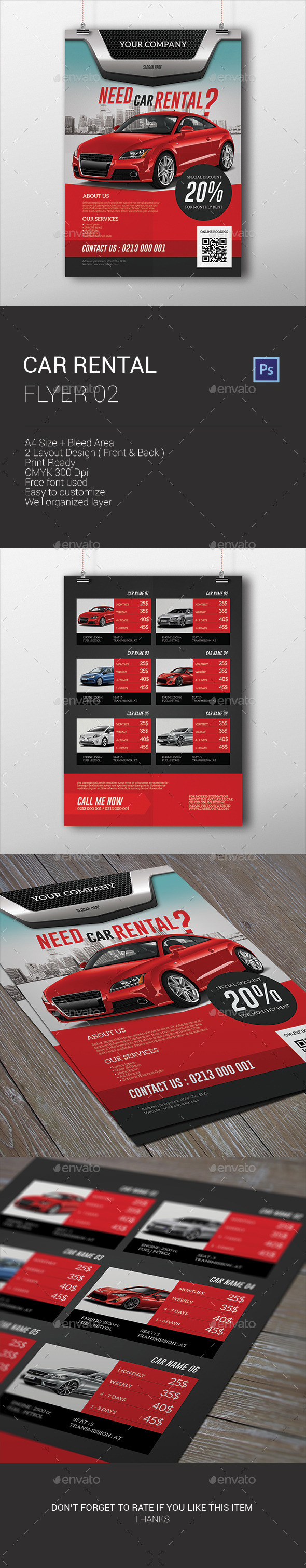 GraphicRiver Car Rental Flyer 9936682