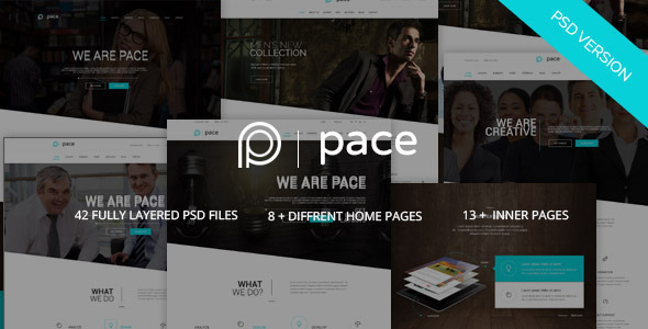 ThemeForest Pace Multi-Purpose Business PSD Template 9857869