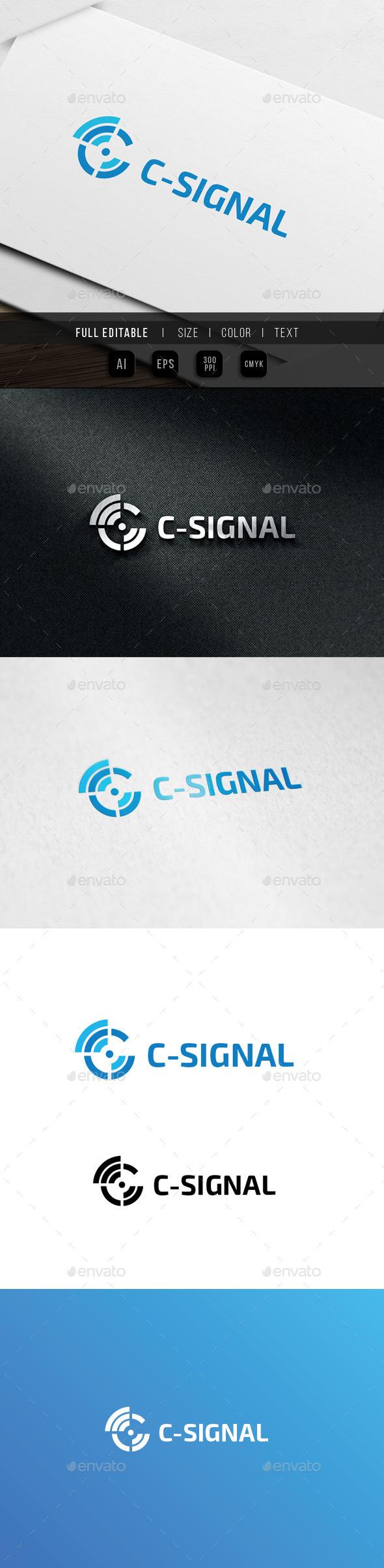 GraphicRiver Signal Letter C 9936722