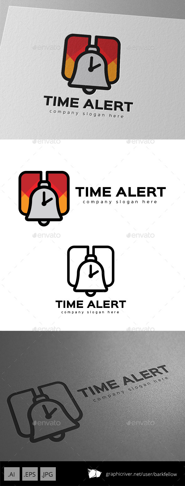 GraphicRiver Time Alert Alarm Logo Design 9936728