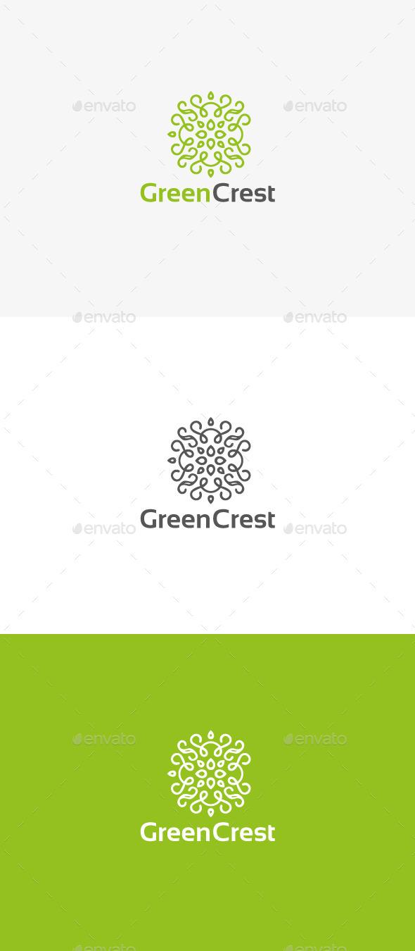 GraphicRiver Green Crest 9937023