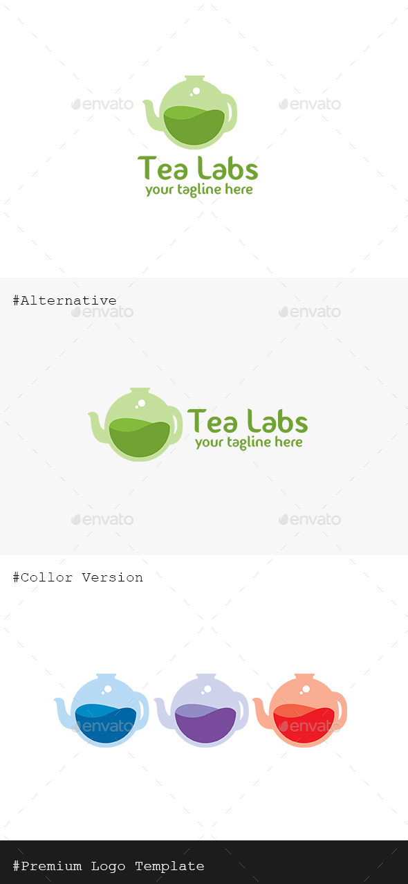 GraphicRiver Lab Tea Logo 9937057