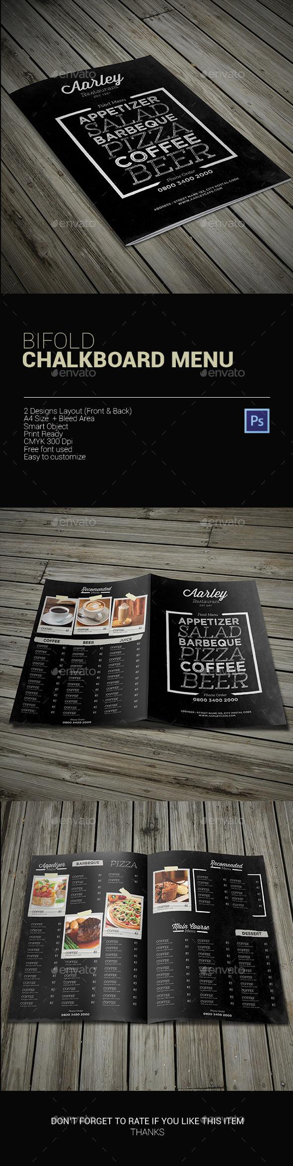 GraphicRiver Bifold Chalkboard Menu 9937083