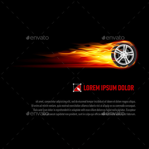 GraphicRiver Flaming Wheel 9937089