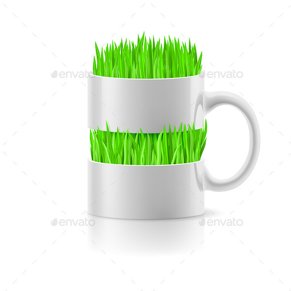 GraphicRiver Mug with Grass 9937090