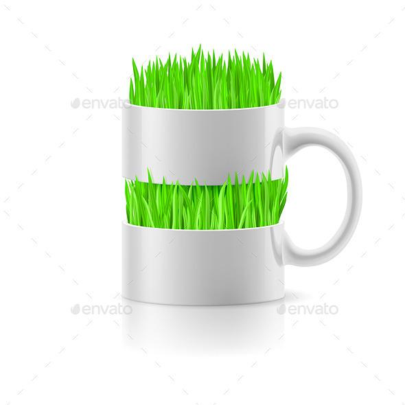 Mug with Grass
