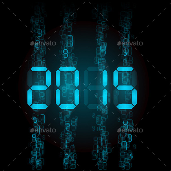 Digital 2015 Numerals