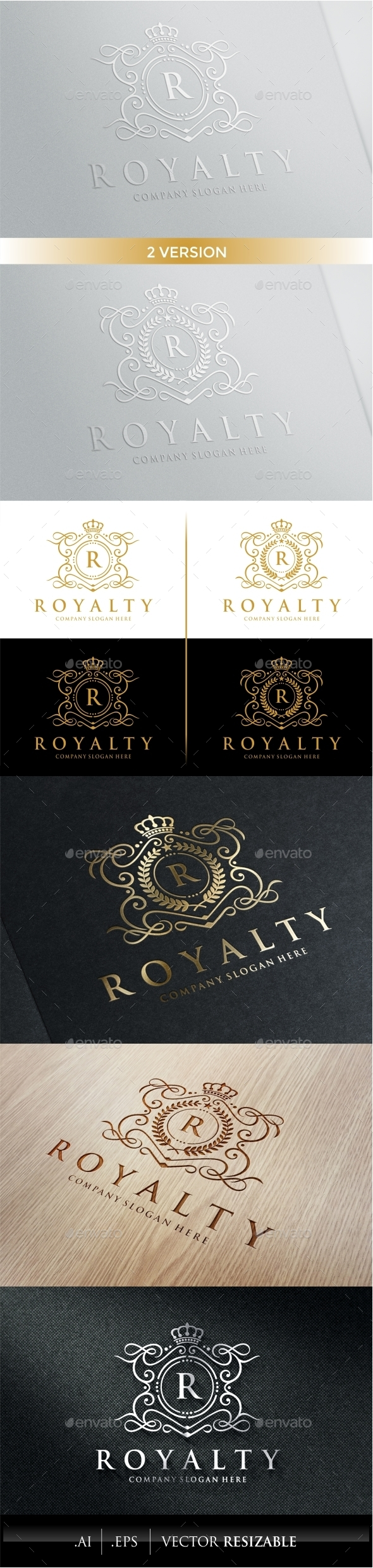 GraphicRiver Royalty Logo Template 9937190