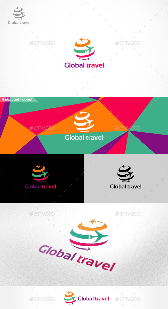 GraphicRiver Global Travel Logo 9937265