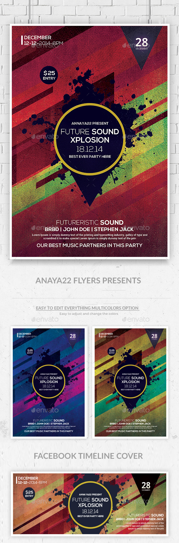 GraphicRiver Future Sound Flyer Templates 9937278