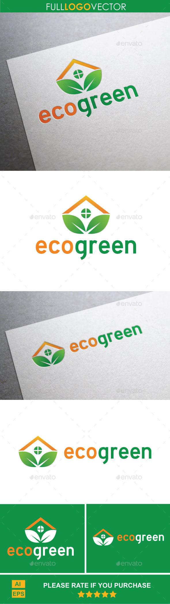 GraphicRiver Eco Green Logo Template 9937292