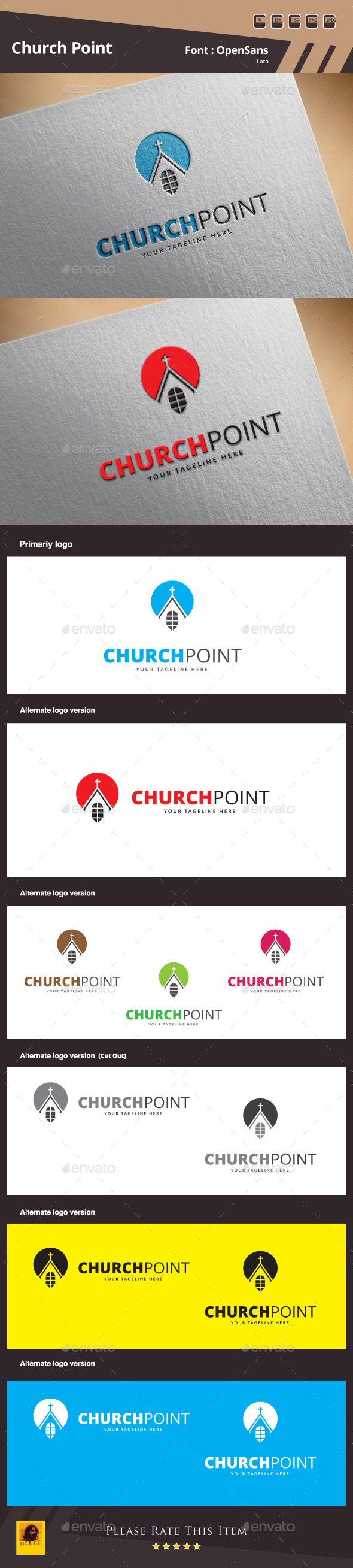GraphicRiver Church Point Logo Template 9937475