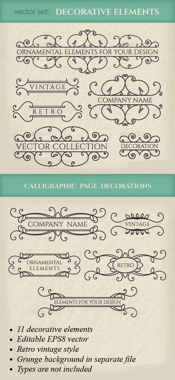 GraphicRiver Vector Calligraphic Design Elements 9937619