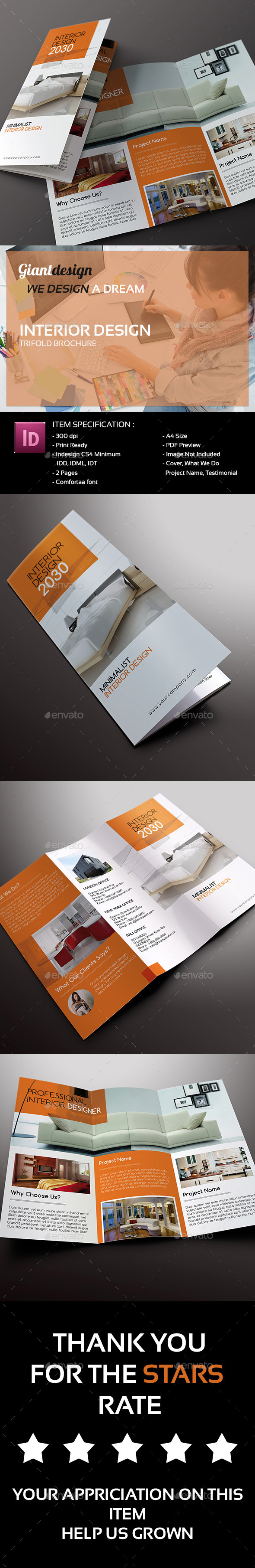GraphicRiver Interior Design Trifold Brochure 9937713