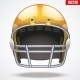 Orange American Football Helmet - GraphicRiver Item for Sale