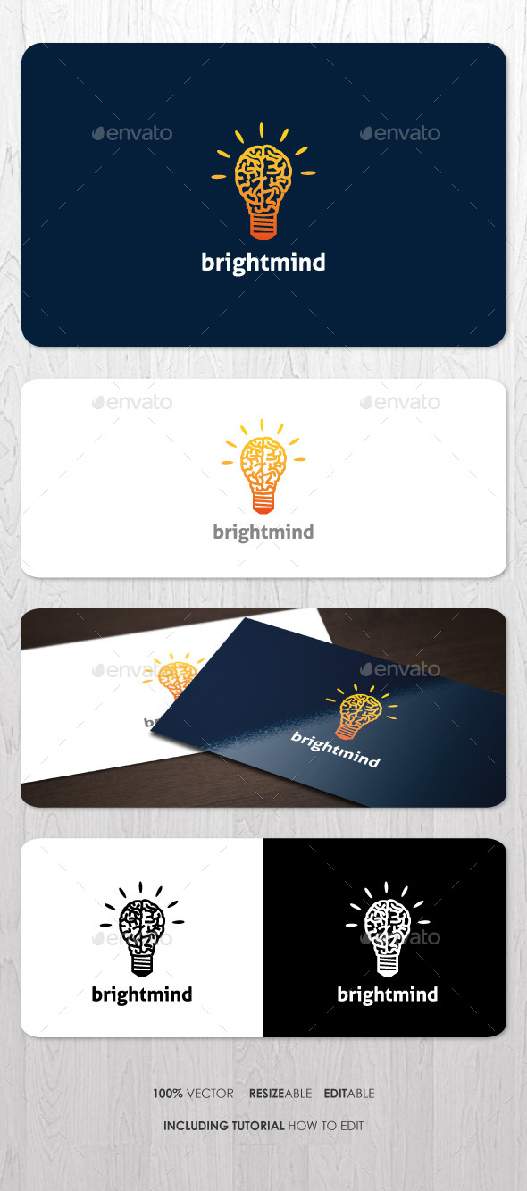GraphicRiver Bright Mind Logo 9937724