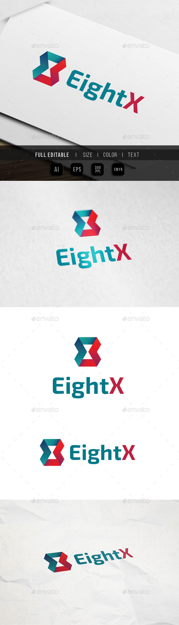 Eight x Ribbon Feedback Logo