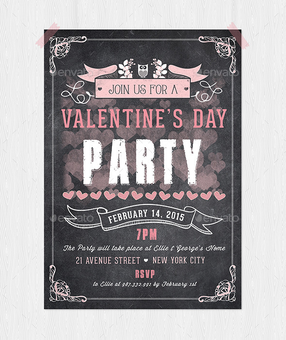 GraphicRiver Valentine s Day Party Flyer 9933390